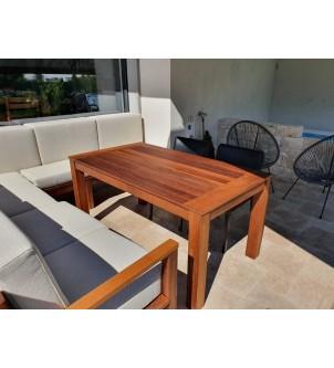Stół na taras z drewna Iroko